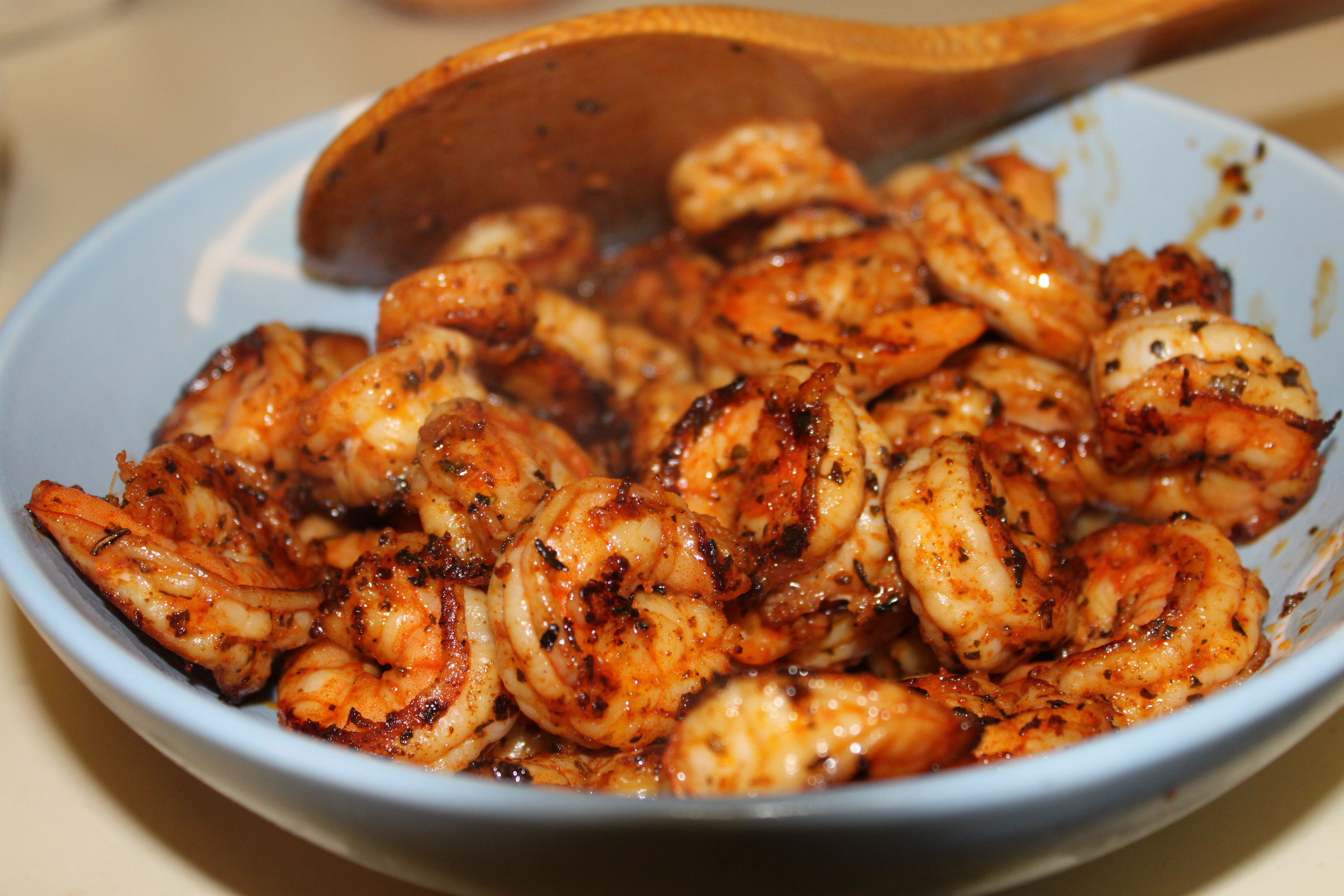 Garlic Noodles With Spice Rubbed Shrimp And Umm Garlic